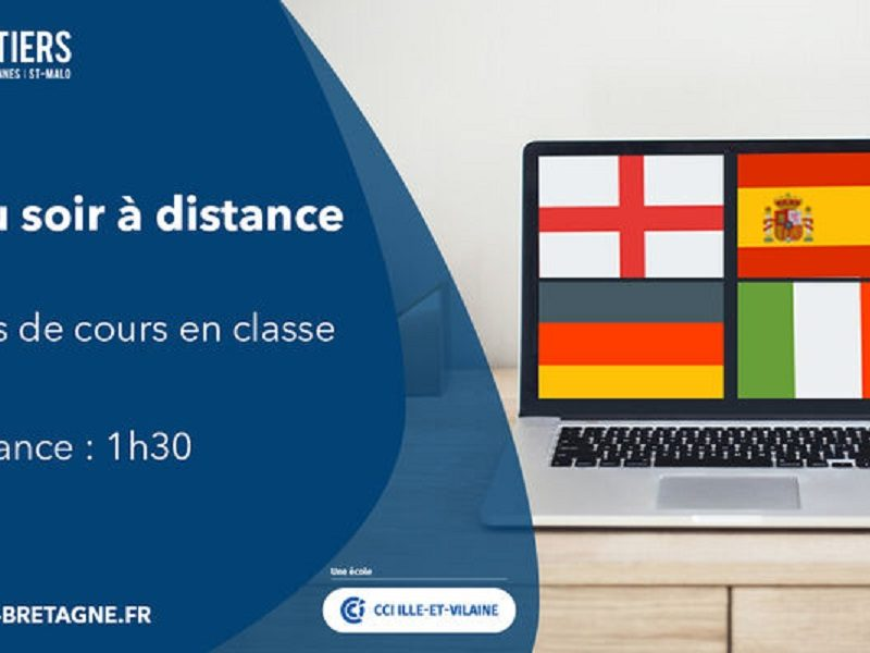 Anglais, Espagnol, Allemand en classe virtuelle