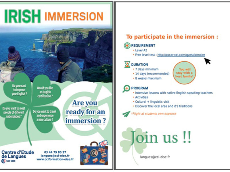 – Immersion en Ireland –